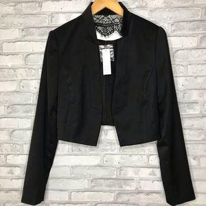 White House Black Market Cropped Tux Jacket size 6